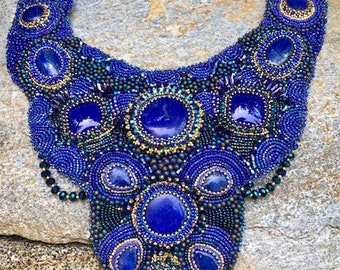 Lapis Bib Necklace