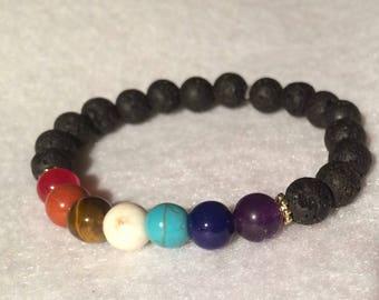 Chakra diffuser bracelet for essential oil's