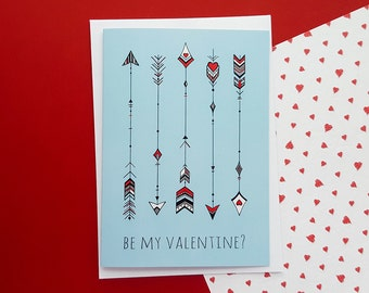 Valentines Card Cupid's Arrows   Valentine's Day Card, Girlfriend Valentines, Boyfriend Valentines, Wife Valentines, Husband Valentines