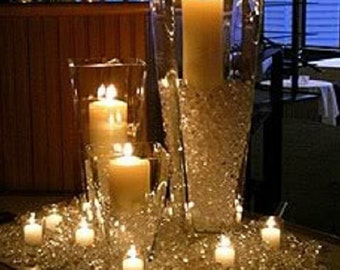 Christmas Crystal Diamond Confetti Table Scatter Decoration Table top Vase filler Candle Centerpiece winter white xmas