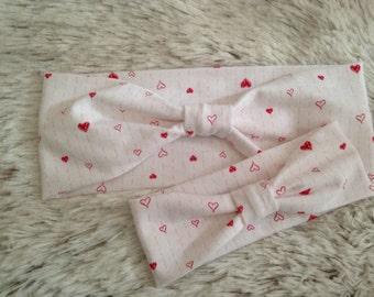 woman & child / headband heart / heart headband