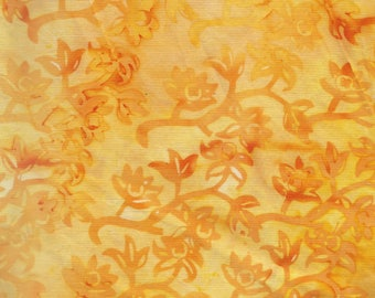 Yellow Batik Fabric