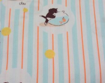 Munki Munki Heather Ross Pinocchio Figaro gold fish Disney fabric Front Panel AMAZING VHTF