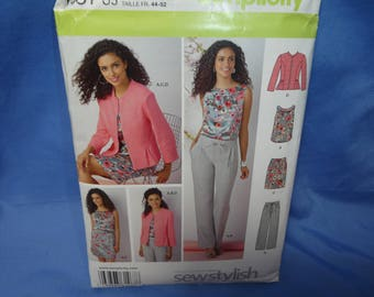 Simplicity 1467, Pants, Skirt, Top, Jacket Sewing Pattern, 8 - 16, uncut