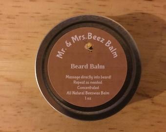 100% All Natural Beeswax Beard Balm