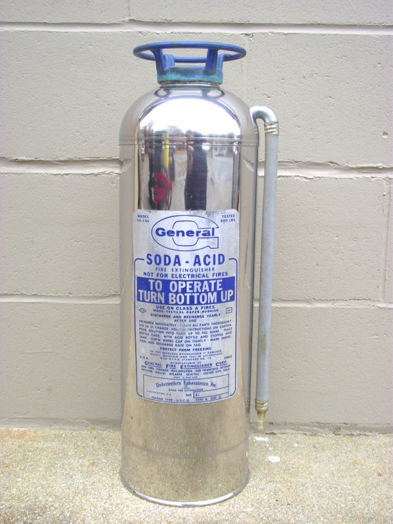 fire extinguisher stainless chrome industrial chic soda acid