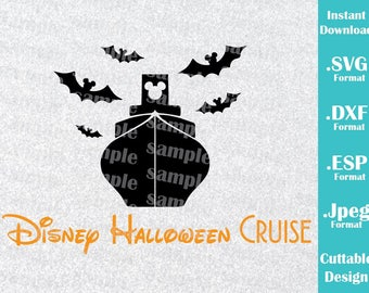 INSTANT DOWNLOAD SVG Disney Inspired Disney Halloween Cruise Logo for Cutting Machines Svg, Esp, Dxf and Jpeg Format Cricut Silhouette