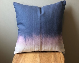 "Dip-Dye w/ Bleach Pillow Cover - 16""x16"""
