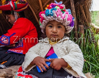 Child at Llama Farm, Sacred Valley of the Incas, Peru - 2016
