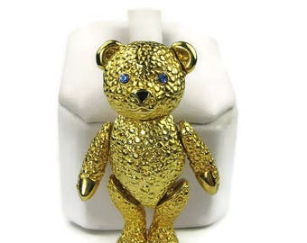 Articulated Teddy Bear Brooch