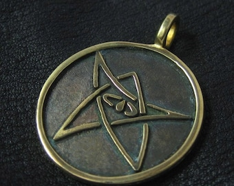Bronze Elder Sign pendant