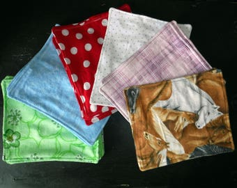 5 washable tissues/baby wipes
