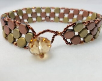 Amber Waves Beaded Bracelet