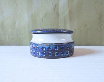 Royal Copenhagen / Aluminia Lidded Jar by Kari Christensen - Tenera Design