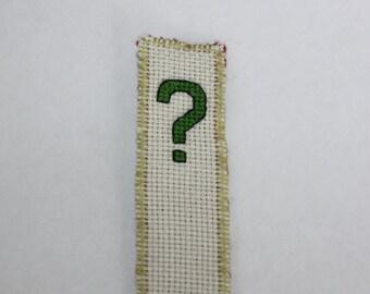 Question mark  cross stitch bookmark