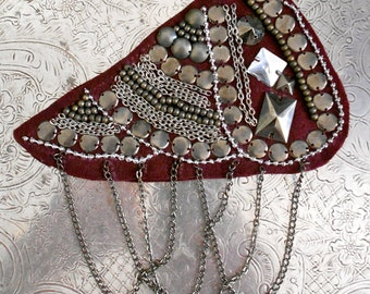 Silver Beaded Chain Appliques