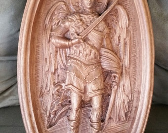 Sacred Art Carving St. Michael the Archangel