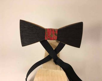 Charred Whiskey Barrel Bow Tie