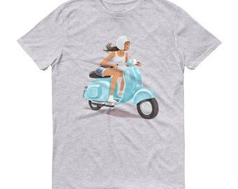 Vintage Scooter Girl T-Shirt