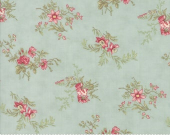 Poetry - Delicate Sprays in Mist by 3 Sisters for Moda Fabrics