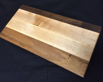 Walnut, Maple and Mahogany Serving Board ~ Handmade Solid Wood Cutting Board ~ Chopping Board ~ FREE SHIPPING!