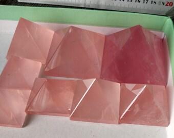 Extra Large Best Rose Quartz Pyramid/Rose Crystal Pyramid(Width Size:30mm,40mm,50mm,60mm,70mm,80mm,90mm,100mm,Custom Size)