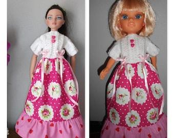 "Clothing doll Ellowyne Wilde Tonner/39 cm 16 ""-or 43 cm dress bimaterial romantic Famosa Nancy"""