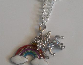 Over the Rainbow Unicorn necklace