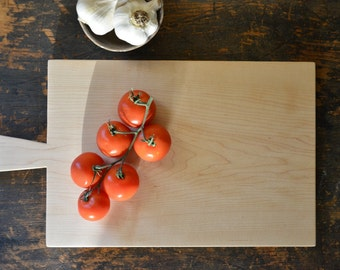 Classic rectangle maple cutting board for cheese, bread, fruit or charcuterie a great gift for a chef