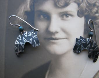Cat Earrings, Cat Art, Cat Jewelry,