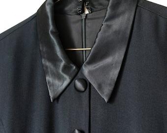 Vintage 80s Formal Tuxedo Dress Large L 12 Taurus II