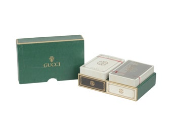 Authentic GUCCI Vintage 2 Decks French PLAYING CARDS w/ Box