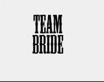 team bride wedding svg dxf file stencil monogram frame silhouette cameo cricut clip art commercial use