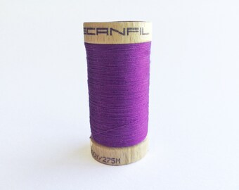 Purple Thread | Grape | Deep Purple | Organic | Sewing Thread | Scanfil Organic Thread | Fiberactive | Dark Purple