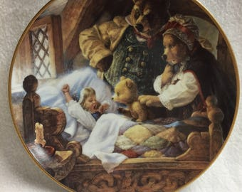 Knowles Classic Fairy Tales Collector Plate - Goldilocks and the Three Bears (#42)