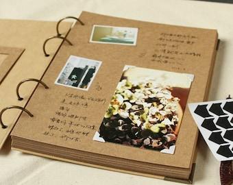 A4 Ring Binder Photo Album - 56 pages// Kraft Scrapbook Album // Wedding Album // Wedding Guest Book