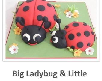 Big Ladybug & Little Ladybug Cakes PDF Tutorial