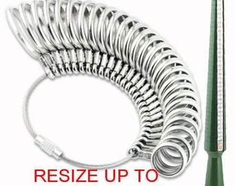Sterling Silver Ring Resize (up to 2 sizes up or down) RS2