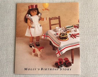 American Girl Pleasant Company Vintage Borderless Pamphlet ... Molly's Birthday Story ... Rare Item for the Serious Collector