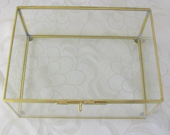 Special Request: Glass Box Gold Frame 10 x 7 x 3 inches
