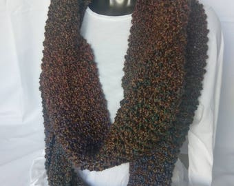 Extra Long Nouveau Hand Knit Infinity Scarf