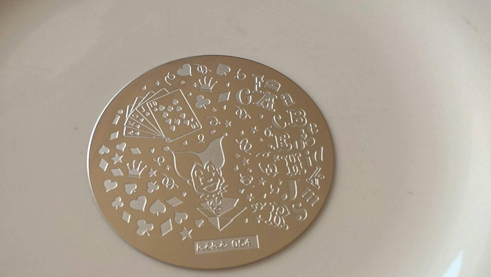 Spielkarten Joker Nail stamping Platten für Nagel-Kunst-Héhé