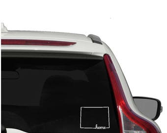 Colorado home vinyl decal - outline state of Colorado car decal -Colorado decal - Colorado outline - Colorado state outline - Colorado state