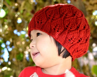 Knitting Pattern Only - Leafy Hat