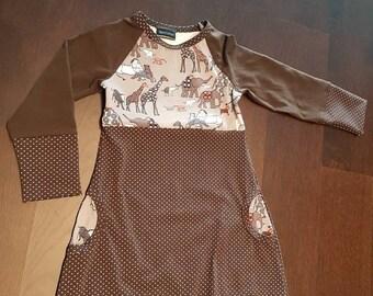Animal Jersey dress, size US 5/ EU 110