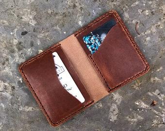 Mens wallet/ leather wallet/ minimalist wallet/ handmade horween wallet/ Custom wallet/ Birthday gift/ Groomsmen gift/ gift for him