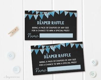 Diaper Raffle Tickets, Diaper Raffle Sign, Chalkboard Baby Shower Diaper Raffle Tickets , Diaper Cards, Digital file, #A06