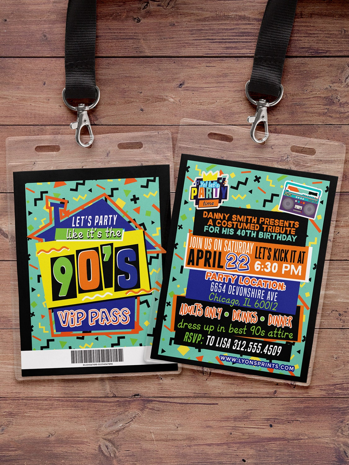 90\'s party, 80\'s party,Hip Hop,VIP PASS, backstage pass, Vip ...