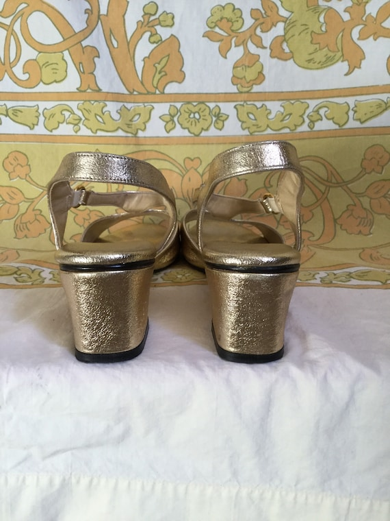SALE Stride by Strap Metallic Salvage 5 Street 70s 6 Sandals Vintage Love T Gold Life rqgHr1w
