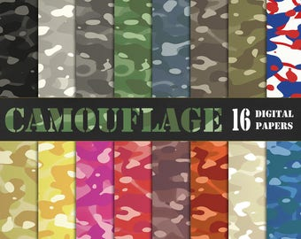 Camouflage digital paper, camoflauge, camouflauge, military papers, army papers, Camo Patterns, hunting digital paper DIGITAL DOWNLOAD
